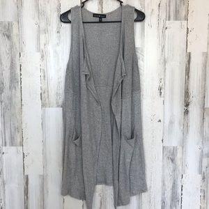 Death Heart | Grey Sleeveless Cardigan Medium